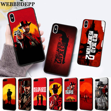 WEBBEDEPP Hot Red Dead Redemption 2 Silicone soft Case for iPhone 5 SE 5S 6 6S Plus 7 8 X XS Max XR webbedepp hot red dead redemption 2 glass phone case for apple iphone xr x xs max 6 6s 7 8 plus 5 5s se