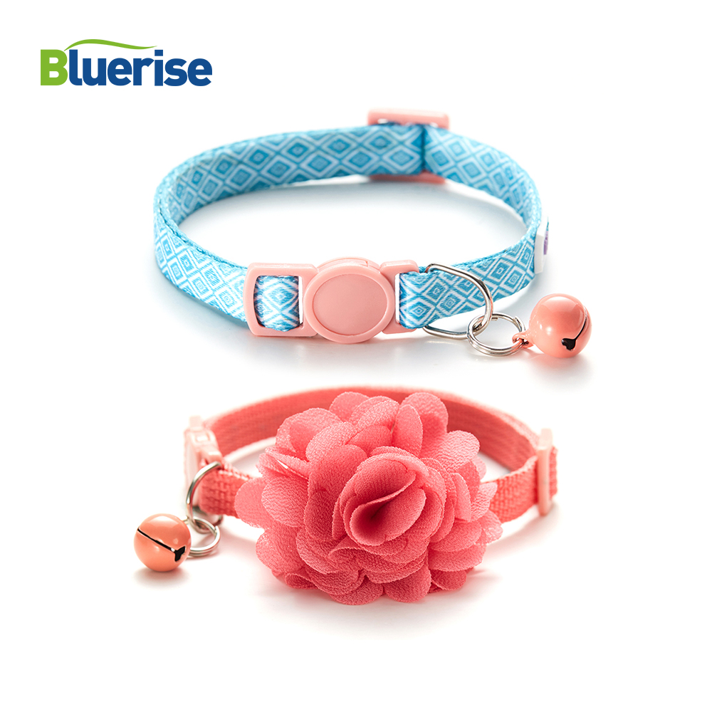 2Pcs Breakaway Personalized Collar For Cats Pet Collar With Bell Adjustable Strap in 9 13 inch