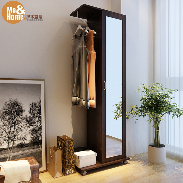 Greener Livable 3 In 1 Body Rotating Mirror Wardrobe Storage Cabinet Length
