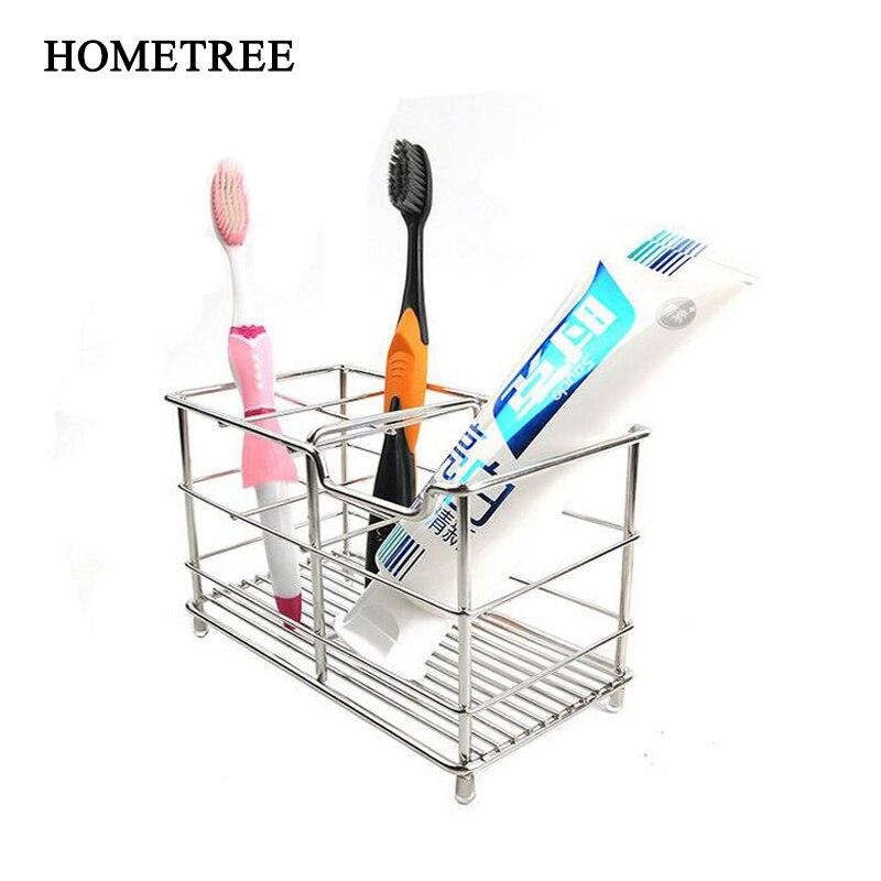 Toothbrush Toothpaste Holder Bathroom Storage Organizer Stand Container Rack New