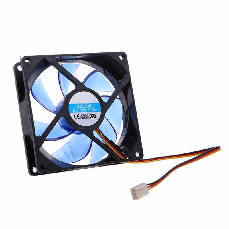 BGEKTOTH di Alta QUlaity Blu Luce Verde 3 pin 12x12x2.5cm 12 Luci LED Silenziosa Ventola Per scatola del Computer Dissipatore di Calore di Raffreddamento del dispositivo di Raffreddamento del Ventilatore
