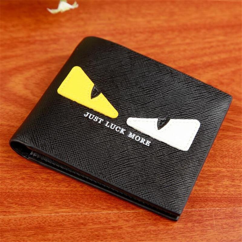693ba63f7ba9 Short Cartoon Wallets with 2 Eyes Brand Slim Wallet Purses Male Clip Small  Portfolio Cuzdan Portomonee Carteras Coin Purse Kids -in Wallets from  Luggage ...