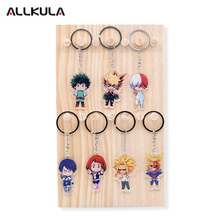 Boku no Hero Academia Action Figure Keychain Double Sided Keyring Anime Peripherals Cute My Hero Academia Key Chains AKL111(China)