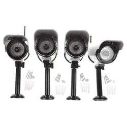 4 x Солнечный манекен беспроводной муляж камеры безопасности питание ИК светодиодный светильник Открытый CCTV IP камера для безопасности в