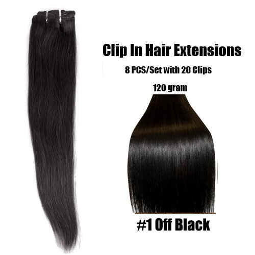 Online shop natural black 1b clip in human hair extensions natural black 1b clip in human hair extensions brazilian straight virgin apply hair for african american cabelo humano tic tac pmusecretfo Choice Image