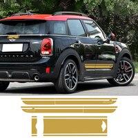 Car Styling Hood Trunk Bonnet Rear Racing Door Side Stripe Decal Stickers For BMW Mini Cooper