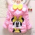 Hot sale Minnie mouse Bebê Meninas Crianças Inverno outwear quente casaco casacos roupa do inverno da menina casaco grosso em estoque