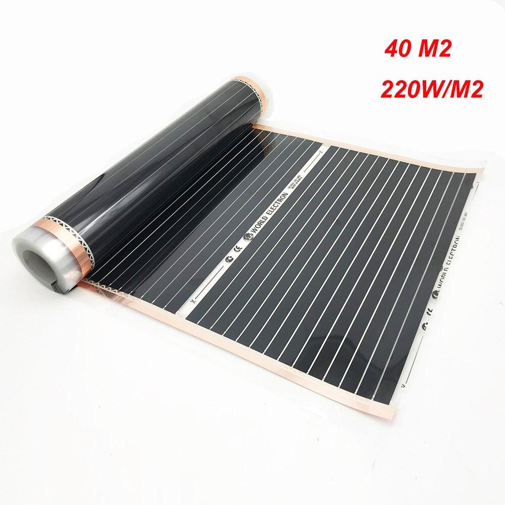 Tapis Sur Chauffage Au Sol €344.81 28% de réduction|40 m² chambre chaleur corée électrique chauffage  par le sol film tapis chauffant carbone film chaud 220w par mètre