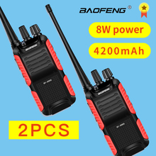 2PCS BF-999S Plus 999S Walkie Talkie Baofeng 8W 4200mAh USB charger Long Distance Portable Two Way Radio Upgrade BF-888s cb