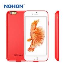Nohon voltar splint bateria tampa do telefone original para iphone 6 6 s caso da habitação de alta capacidade 2000 mah 2800 mah