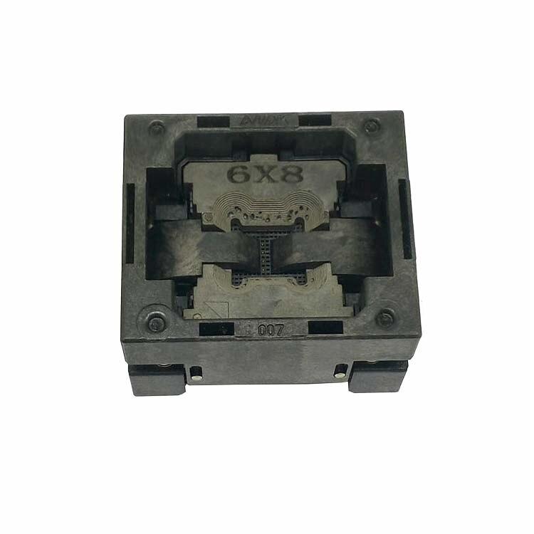BGA24 graver dans la prise IC taille 6*8mm/BGA24 IC prise de Test/BGA24 adaptateur broches tableaux 6*8mmBGA24 graver dans la prise IC taille 6*8mm/BGA24 IC prise de Test/BGA24 adaptateur broches tableaux 6*8mm