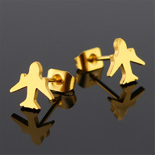 New simple aircraft Korean earrings stainless steel female fashion jewelry accessories gifts for women