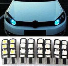 Car Styling 1pcs car T10 12V 5050 5W5 CAR/BOAT/ LED car lights license plate Auto Projector Lens Parking Interior led lamp