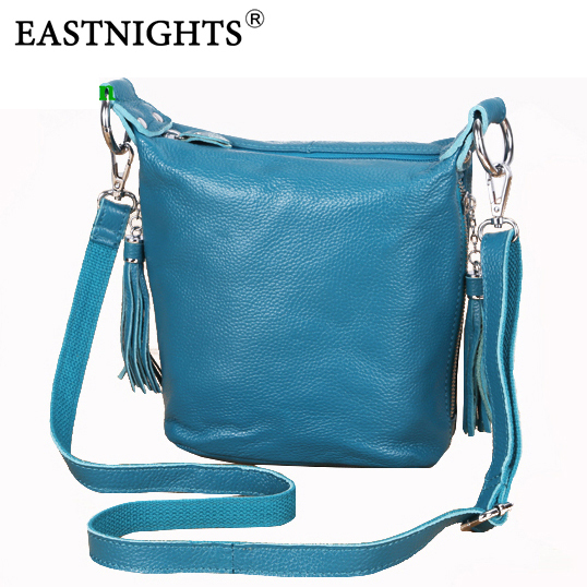 EASTNIGHTS  fashion shoulder bags women leather handbags real leather women messenger bags totes with tassel TW2805