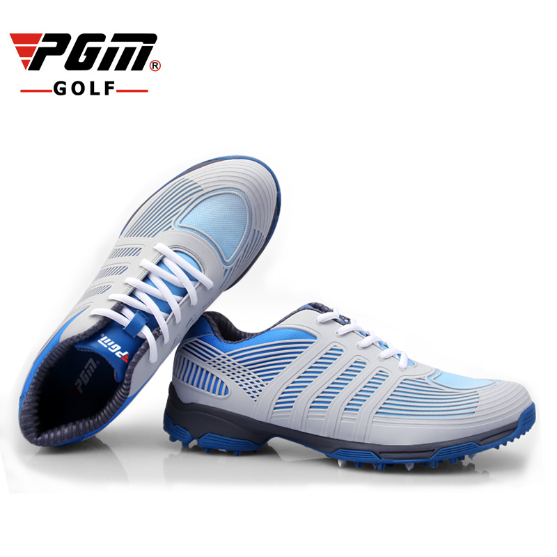 PGM New golf shoes1600D nylon waterproof Breathable men's golf Sports shoes anti-skid shoe nails patent golf sneakers male 39-45 durable golf children shoes sneakers breathable anki skid soft shoes golf kids shoes outdoor sport running antiskid shoes