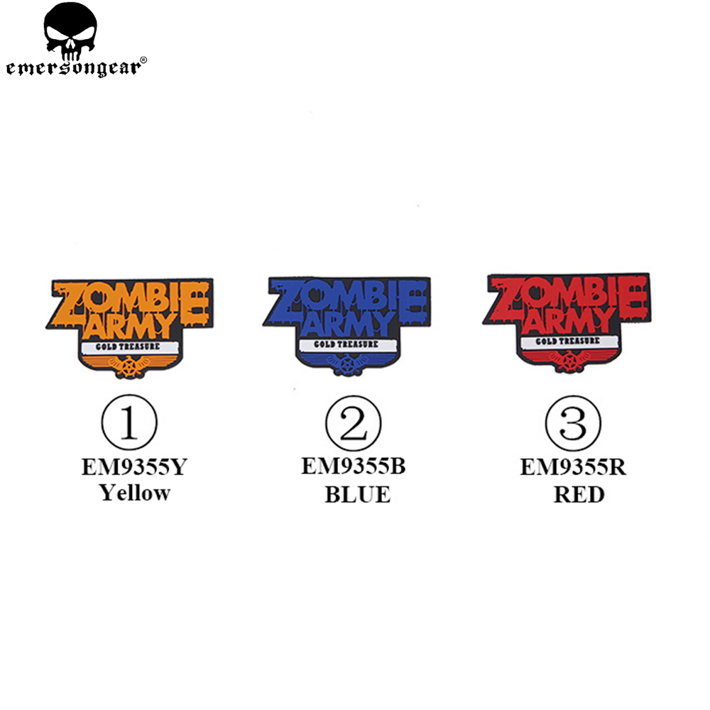 EMERSONGEAR Zombie Team Patch PVC P.A.Y.S Patch Military Tactical Hunting Accessories Zombie Army Patch EM9370