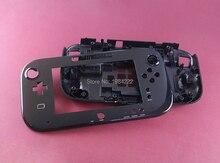 Nintendo wiiu wii u gamepad 케이스 교체 용 배터리 커버가없는 하우징 쉘 교체 검정/흰색