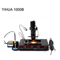 3 in 1 Infrared Bga Rework Station SMD Hot Air Gun+75W Soldering Irons+540W Preheating Station YIHUA 1000B