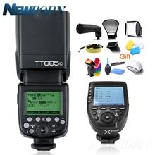 Godox TT685C TTL Camera Flash 2.4 GHz Hoge Snelheid 1/8000 s GN60 + Xpro C TTL Draadloze zender voor Canon Eos Camera + Gift