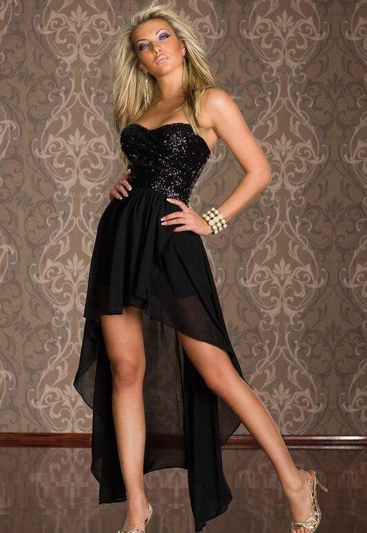 dbff0e7d8 2016 Nova Moda Sexy Mulheres de Vestido Com Refletor Cauda Strapless Luz  Negra Clube Amarelo Desgaste 2 cores Assimétrico Vestidos em Vestidos de  Roupas das ...