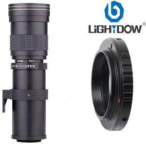 Image 2 - Lightdow 420 800mm F/8.3 16 Super Telephoto Lens Manual Zoom Lens +T2 Adaper Ring for Canon  DSLR Cameras EF EF S Mount Lens