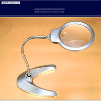 10 Times The Desktop Maintenance Magnification Mirror 20 Times Repair Reading Magnifying Glass With LED Lights