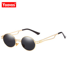 Yoovos 2019 Punk Metal Sunglasses Women Mirror Brand Designer Eyeglasses Shopping Party Fashion Oculos De Sol Feminino UV400