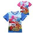 Dos desenhos animados crianças causal t-shirt de super bonito do algodão verão t para 3-8yrs crianças meninos meninas quente
