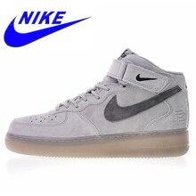 ba5eeeeaffe Original Novo Nike Air Force 1 Mid 07 Tênis Respirável Leves Sapatos de  Skate dos homens de Alta Qualidade Ao Ar Livre 807618 20.