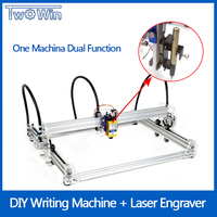 New TwoWin A3 Pro DIY Mini CNC Engraving Machine Printing Drawing Machine Mapper Dual Functions 15W Laser Engraver Writing Robot