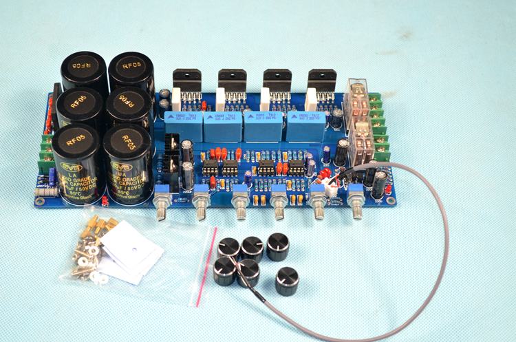 10000UF50V capacitor NE5532 LM3886 2.1-channel 125W subwoofer Hifi amplifier board with protection circuit DIY audio lm3886 amplifier board diy kit amp for hifi with speaker protection dual 18 26v