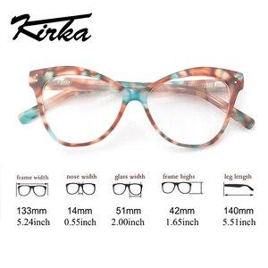 Image 5 - Kirka Women Optical Glasses Frame Cat Eye Eyeglasses Frame Reading Glasses Eyewear Accessories Women Eyewear Frame Myopia