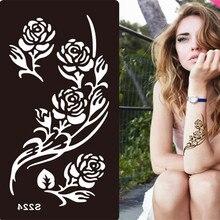 Мехенди шаблонов трафаретов трафареты хной татуировка боди-арт аэрограф временные искусство живопись