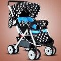 0-36 meses do bebê Multifuncional carrinho de criança pode sentar dobrável ultra portátil two-way guarda-chuva carro do bebê de quatro roda do carrinho de mão