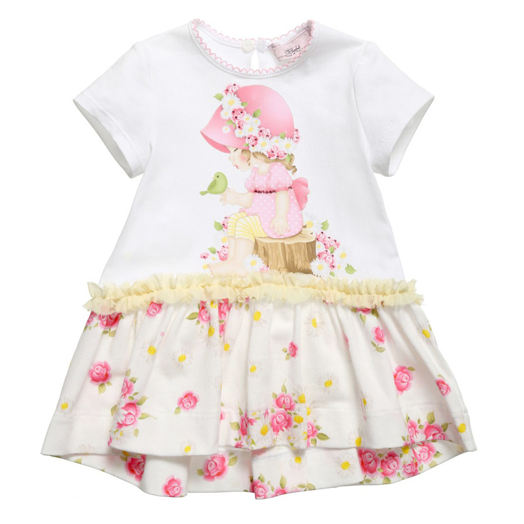Baby girl Dresses Girls Infant Cotton Brand Dress Summer baby dress Printed baby clothing baby girl dress infant dot dresses