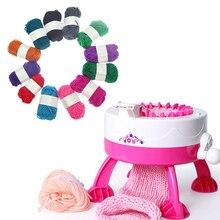 Детская обучающая вязальная машина, пластиковая игла, для детей, девочек, сделай сам, ручная вязка, шарфики, шапки, вязание, ткацкий станок, игрушка, Прямая поставка