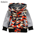 Fashion Camouflage Children Jackets 2017 Spring Hooded Boys Patchwork Clothing Hoody Sweatshirts Single Breasted Outerwear Coat