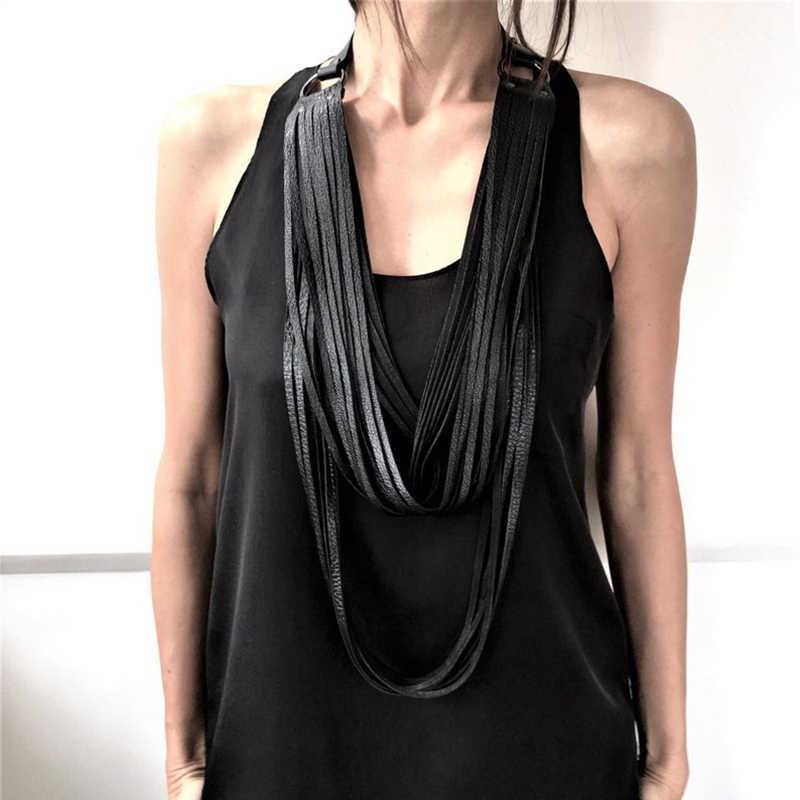 YD & YDBZ nowy Tassel skórzany naszyjnik dla kobiet projektant długi naszyjnik Choker Punk główna ulica ubrania do biżuterii akcesoria