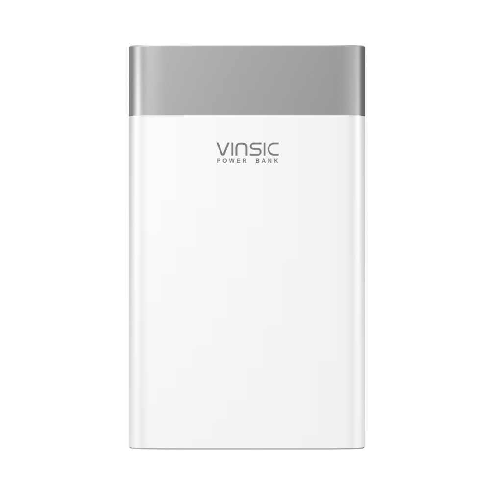 Terminal vinsic p3 20000 mah power bank qc3.0 carga rápida 2.4a saída dupla com tipo c porto para samsung, iphone, xiaomi