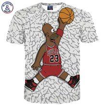 2017 Mr.1991INC Men's cartoon t-shirt Hip hop t shirt 3d print humorous character play 3d tshirt summer time tops tees 5810