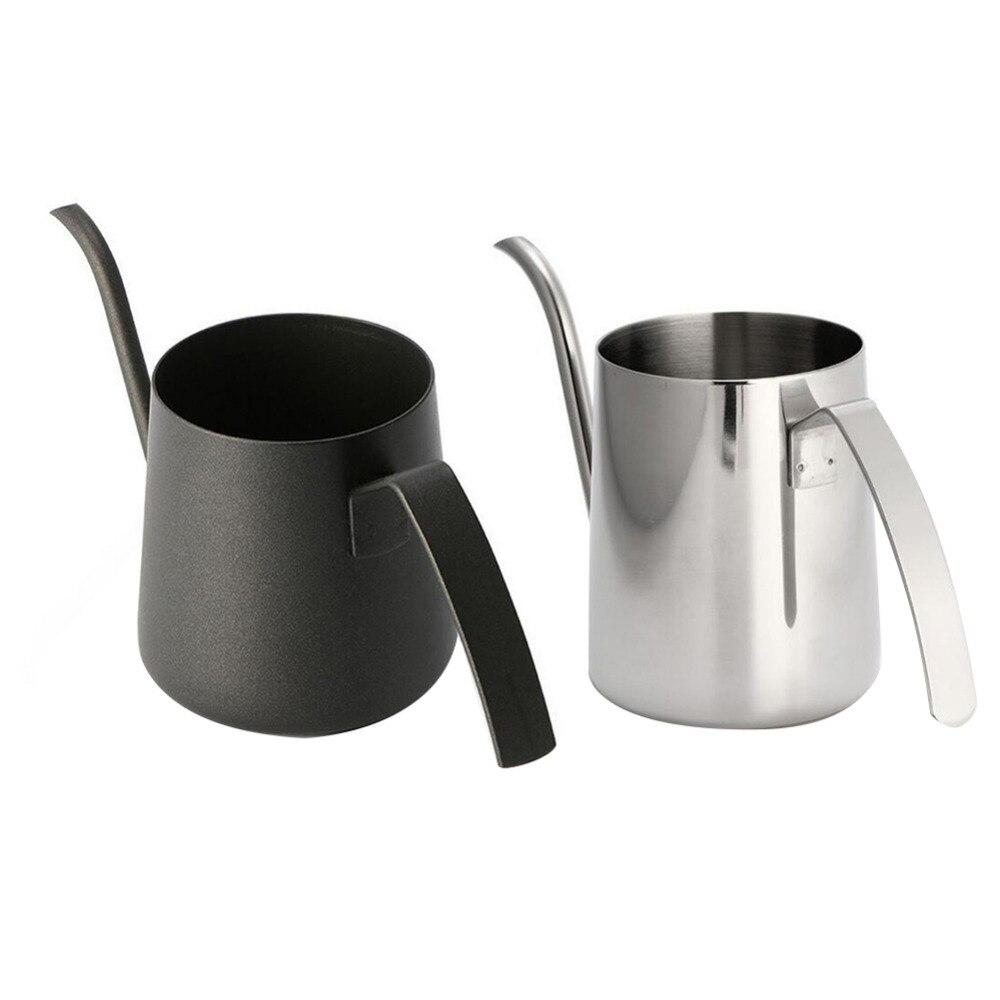 1 stück Dicken Edelstahl Halterung Hand Punch Topf Kaffeekanne Drip Schwanenhals auslauf wasserkocher 350 ML/250 ML