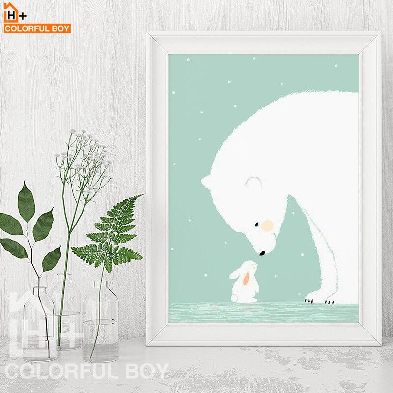 COLORFULBOY Πολική Αρκούδα Κουνέλι - Διακόσμηση σπιτιού - Φωτογραφία 2