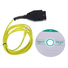 2019 ENET Ethernet to OBD Interface New ESYS Data Cable E SYS ICOM Coding for F serie Diagnostic Cable