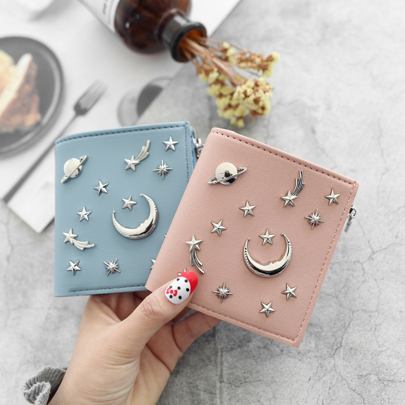 Women's 20% Simple Cross Pure Color Soft Star Star Wallet 2018 New Style Women's Wallet 4