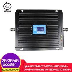 ZQTMAX 75dB 2g 3g 4g wzmacniacz sygnału komórkowego WCDMA DCS GSM repeater 900 1800 2100 UMTS LTE wzmacniacz sygnału komórkowego internet