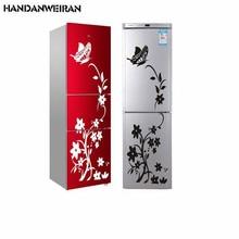 цена на HANDANWEIRAN  2019DIY creative black butterfly refrigerator  wall stickers for livingroom Waterproof home decoration stickers