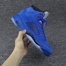 new style 7714c d2579 JORDAN Air Retro Scarpe Da Basket blu infuria bullss Traspirante Altezza  Crescente Sneakers In Pelle Scamosciata Per Gli Uomini .