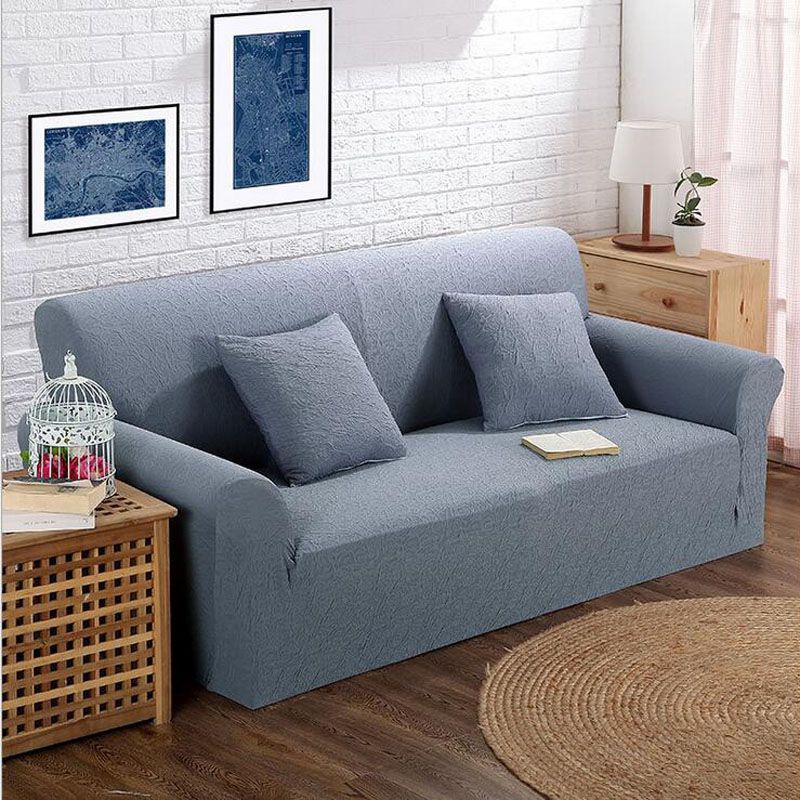 simple style all inclusive sofa cover double seat fabric