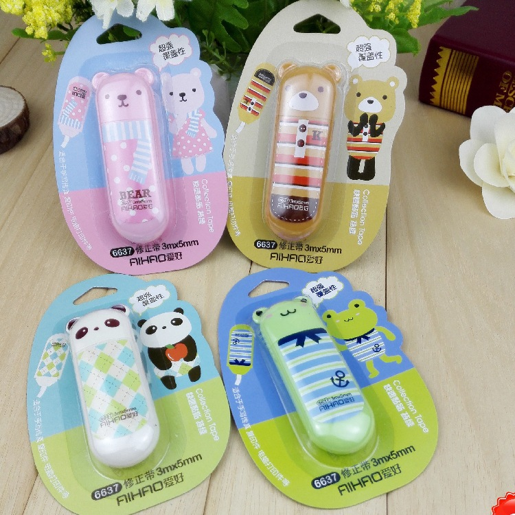 Cute Animal Correction Tape Material Escolar Kawaii Stationery Office School Supplies