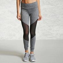 цена на gym leggings women sexy mesh black yoga pants High Waisted Sports suits for women workout running Comfortable Elastic leggings